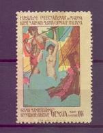 CINDERELLA ERINNOFILIA GRANDI MANIFESTAZIONI GINNASTICHE E SPORTIVE GENOVA 1914  (GIUGN190039) - Erinnofilia
