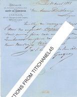 Lettre 1868 BRUXELLES - J. GEIGER - Papiers D'emballage - TP N°18 Oblit. LP63 BRUXELLES Le 31.3.1868 - Imprenta & Papelería