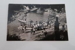 CPSM Animée - CASTILLON Sur DORDOGNE (33) - La Plage - France