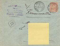 94 40c ORANGE SAGE Seul S/ LR Du HARAS CRECY S/ SERRE Du 30.10.1900 - Moulin/graines Fourragères- Traces Fixation Au Dos - 1876-1898 Sage (Type II)