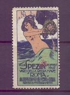 CINDERELLA ERINNOFILIA VARO DELLA REGIA NAVE  ROMA 1907   (GIUGN190042) - Erinnofilia