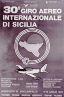 1978- Cartolina Volata Con Aereo Di Gara Numero 1 E Firma Del Pilota Per Il 30� Giro Aereo Internazionale Di Sicilia Tap - 1946-....: Era Moderna