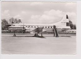 Vintage Rppc KLM K.L.M. Convair Liner 240 @ Flughafen Hannover Airport - 1919-1938: Between Wars