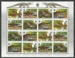 CUBA - MNH - Animals - Reptiles - Crocodiles - WWF - Reptilien & Amphibien