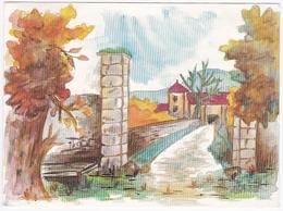 """THIONVILLE / GUENTRANGE - L'entrée Du """"Patios'haff"""" - Aquarelle De M. Chr. Obertot-Andrès - Thionville"""