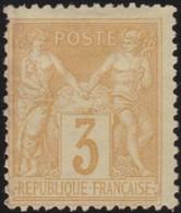 France   .    Yvert  .     86    (2 Scans)       .     (*)         .    Pas De Gomme     .   /   .     No Gum - 1876-1898 Sage (Tipo II)