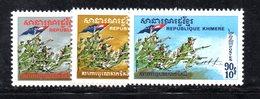 APR1360 - CAMBOGIA KHMER 1971 , Serie Michel N. 289/291  ***  MNH - Cambogia