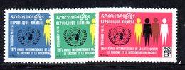 APR1361 - CAMBOGIA KHMER 1971 , Serie Michel N. 292/294  ***  MNH - Cambogia
