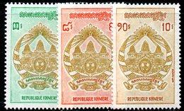 APR1363 - CAMBOGIA KHMER 1971 , Serie Michel N. 306/308  ***  MNH - Cambogia