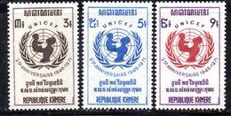 APR1365 - CAMBOGIA KHMER 1971 , Serie Michel N. 312/314  ***  MNH - Cambogia