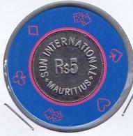 Casino Chip 5 Roupies Sun International Mauritius - Casino