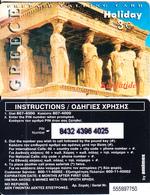 GREECE - Greece/Acropolis-Karyatides, Holiday By Amimex Prepaid Card 3 Euro(807 4000), Tirage %5000, 07/03, Used - Phonecards
