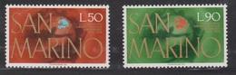 SAN MARINO Scott # 848-9 MH - 100th Anniversary OF UPU - San Marino