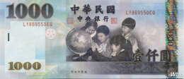 Taiwan 1000 NT$ (P1997) (Pref: LY) -UNC- - Taiwan