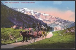 Klausenstrasse - Urnerboden - Diligence – Postkutsche - 1914 - UR Uri