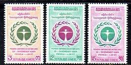 APR1370 - CAMBOGIA KHMER 1972 , Serie Michel N. 335/337  ***  MNH - Cambogia