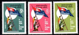 APR1371 - CAMBOGIA KHMER 1972 , Serie Michel N. 353/355  ***  MNH - Cambogia
