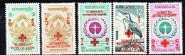APR1374 - CAMBOGIA KHMER 1972 , Serie Michel N. 356/360  ***  MNH Croce Rossa - Croce Rossa