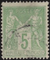 France   .    Yvert  .      106       .     O     .    Oblitéré   .   /   .     Cancelled - 1898-1900 Sage (Type III)