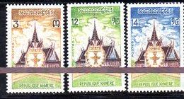 APR1376 - CAMBOGIA KHMER 1973 , Serie Michel N. 365/367  ***  MNH - Cambogia