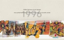FEUILLET De 5 VIGNETTES AXIME (Vœux 1996) Dans Son Encart - Commemorative Labels