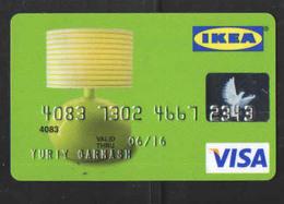 RUSSIA  VISA  CARD IKEA - Geldkarten (Ablauf Min. 10 Jahre)