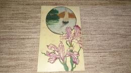 Carte En Celluloïd Peinte Signée - Cartes Postales