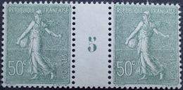 R1934/161 - 1925 - TYPE SEMEUSE LIGNEE - N°198 TIMBRES NEUFS** MILLESIME 5 - Millesimi