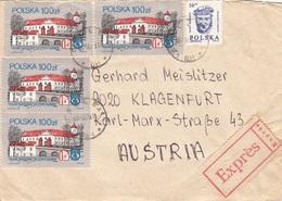 POLEN EXPRESS BRIEF - 5 Fach MIF Auf Express-Brief Gel.v. Opole > Klagenfurt - Ganzsachen