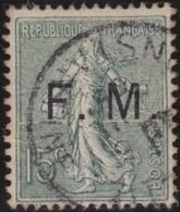 France   .    Yvert  .      Fm  3        .     O     .    Oblitéré   .   /   .     Cancelled - Franquicia Militar (Sellos)
