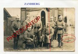ZANDBERG-Gare-CARTE PHOTO Allemande-Guerre 14-18-1WK-BELGIEN-Flandern-Feldpost - Kortrijk