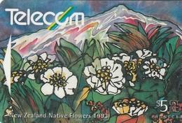 TARJETA TELEFONICA DE NUEVA ZELANDA, FLORA, MOUNT COOK LILY. G-074. (060) - Flores