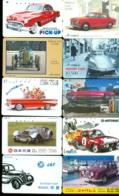 10 Télécartes Différentes VOITURE  (LOT 9)  10 DIFFERENT PHONECARDS CAR  * 10 VERSCHIEDENE TELEFONKARTEN AUTO - Cars