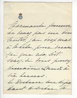 Zenaide Dmitrievna Skobeleva (1856-1899) Maitresse Du Grand-duc Alexeï Alexandrovitch De Russie Leuchtenberg RUSSIA - Autogramme & Autographen