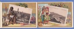 LAPORELLO Mit 12 Lithographischen Ansichten Von Großstädten, Alle In Golddruck Um 1905 … Paris,Peking,NewYork,Berlin >>> - Ansichtskarten