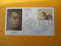 FDC 1972  France N° 1733   Oeuvres D'art -   Les Péniches, De André Derain    Cachet  Paris - FDC