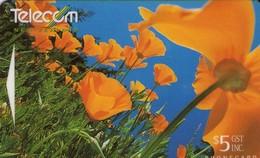 TARJETA TELEFONICA DE NUEVA ZELANDA, FLORA, CALIFORNIA POPPIES. G-126. (027) - Flores