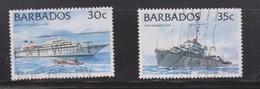 BARBADOS Scott # 875-6 Used - Ships - Barbados (1966-...)