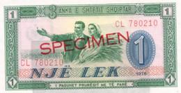 Agriculture  ALBANIE Billet De Banque SPECIMEN Paysans Avec Une Gerbe De Blé - Albania