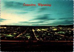 Wyoming Evanston Skyline At Dusk - Evanston