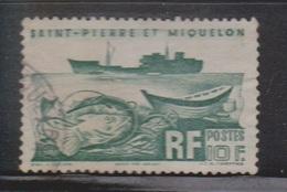 ST PIERRE ET MIQUELON Scott # 339 Used - Ship & Fish - St.Pierre & Miquelon