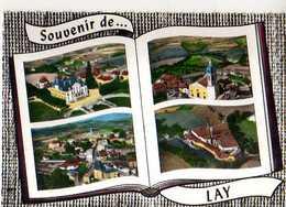42 Souvenir De LAY, Style Album Photos Ouvert, Chateau De La Verillere Eglise Vue D'ensemble - France