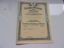 GRANDS MOULINS DU NORD (certificat) Valenciennes - Actions & Titres