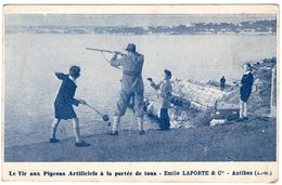 (107)  CPA  Antibes  Tir Aux Pigeons  Artificiels Emile Laporte  Antibes   (Bon état) - Antibes