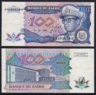 Cdb013 ZAIRE 1988, Banknote 100 Zaires, UNC - Zaire
