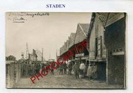 STADEN-Proviant Amt-Magasin De La Division-CARTE PHOTO Allemande-Guerre 14-18-1WK-BELGIEN-Flandern- - Staden