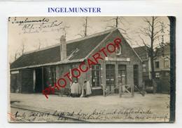 INGELMUNSTER-Gare De Marchandises-Güterbahnhof-CARTE PHOTO Allemande-Guerre 14-18-1WK-BELGIEN-Flandern- - Ingelmunster