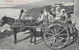 ITALIE-  SICILE -  1930 - TAORMINA -  CARRETTO SICILIANO - CARTE EN L ETAT - Italien