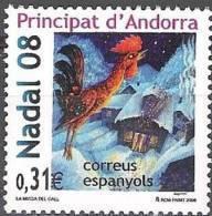 Andorra Español 2008 Yvert 346 Neuf ** Cote (2015) 1.20 Euro Noël - Andorre Espagnol