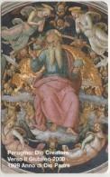 SCHEDA TELEFONICA NUOVA VATICANO SCV61 DIO CREATORE PERUGINO - Vaticano